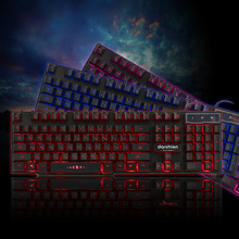 Backlight Gaming Keyboard 3 Color Russian/English Layout USB Wired Colorful LED Backlit for Desktop Laptop Ship From Russia
