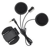 V6 Headphone Soft Earphone Microphone Clip Work For V6 V4 Motorcycle Helmet Bluetooth Intercom Moto Bt