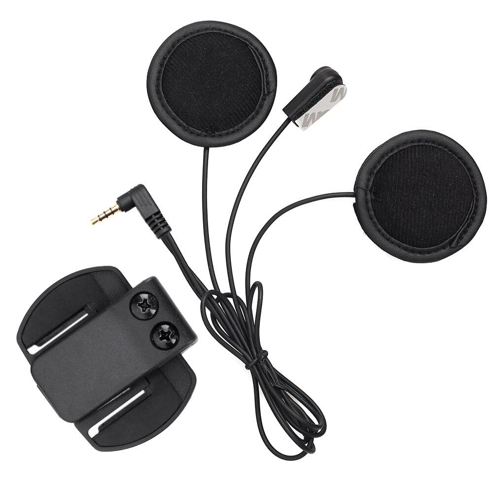V6 Headphone,Soft Earphone+Microphone+Clip Work for V6 <font><b>V4</b></font> Motorcycle Helmet <font><b>Bluetooth</b></font> Intercom Moto <font><b>bt</b></font> Interphone Headset