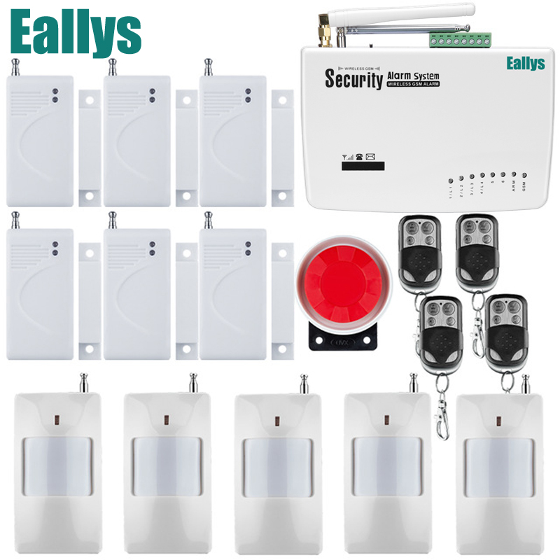 Wireless Wired GSM Home Security Burglar Alarm System +Infrared Sensor+Door/window Sensor+Remote Control Free Shipping home security door window siren magnetic sensor alarm warning system wireless remote control door detector burglar alarm