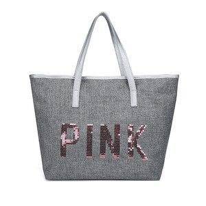 2019 Cheap GYM Bag Sequin Letters Print