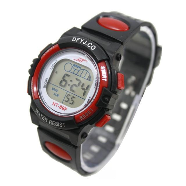 2019 new fashion Girl Boy LED Light Wrist Watch Alarm Date Digital Multifunction