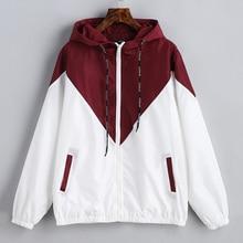 2019 new autumn wrint jacket women hooded long sleeve thin c