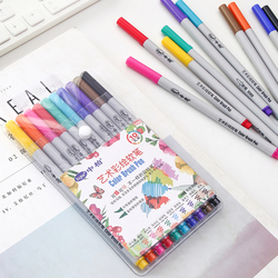 10 pcs Watercolor brush pen Painting soft touch color drawing pens 0.5-3.0mm Calligraphy Stationery School art supplies A6576