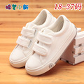 Crayón zapatos de marca para los hombres y las mujeres los zapatos 2016 niños del resorte nuevos zapatos de lona, calzado deportivo zapatillas de deporte zapatos blanco sólido