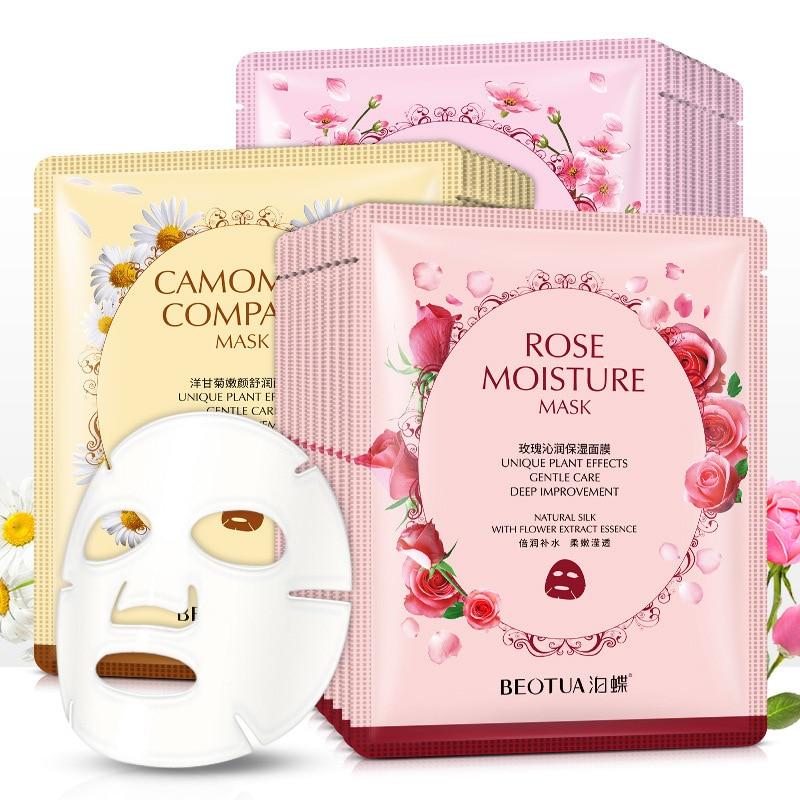 BEOTUA Plant Extract Face Sheet Mask Hydrating Moisturizing Oil Control Lifting Visage Beauty Health Acne Unisex Whole Face Mask