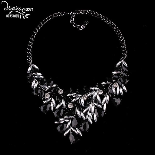 a1fc0d32e Dvacaman Brand Luxury Indian Bridal Wedding Choker Collar Custom Jewelry  Accessory Crystal Pendant Statement Necklace Women