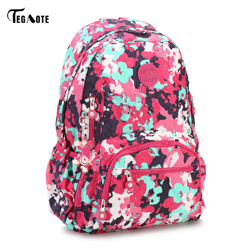 TEGAOTE Nylon Backpack Women Cute School Backpacks for Teenage Girls Vintage Laptop Bag Rucksack Bagpack Female Schoolbag tegaote classic mini school backpack for teenage girls casual backpacks female women brand nylon laptop bagpack shoulder bags