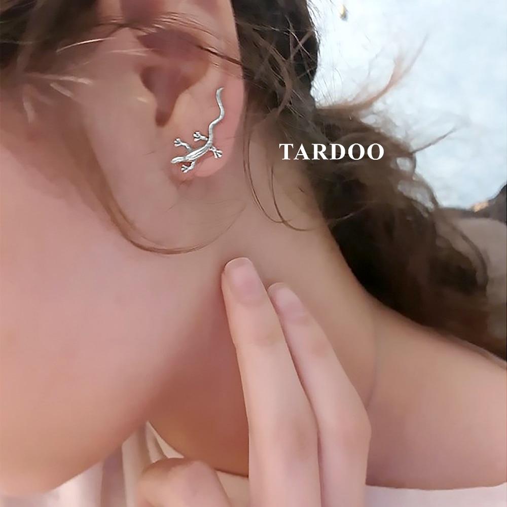 Tardoo New Hot 925 Sterling Silver Hook Earrings for Women Gecko Shape Special Sculpt Brillant Hook Earrings Brand Fine Jewelry