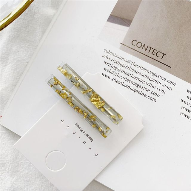 1 Pair Korean Gold Foil Hairpin Acetate Hair Clip For Women Girls Barrettes Hair Accessories Gifts Hair styling Tools New Arrive 2