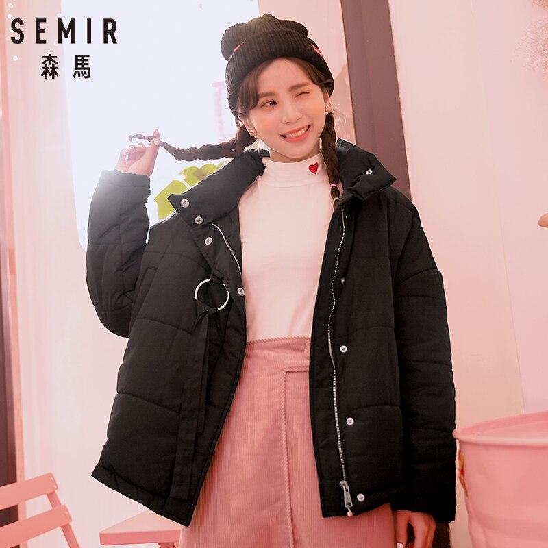 Vêtements dark Khaki Marée Section Épais gray Coréenne Hiver Courte 2018 Coton Femelle Semir Mode La Black Pain pink Femmes Veste Lâche Vestes De g1nxZ5SR