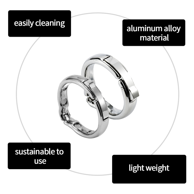 Runyu Magnet Cock Ring Metal Penis Sleeve For Male Extender Penis Enlargement Condoms Sex Toys Intimate Goods Ring On The Penis 2