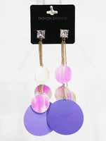 2016 New Hot Sale Fashion Sequins Long Drop Exaggerate Dangle Earrings For Women
