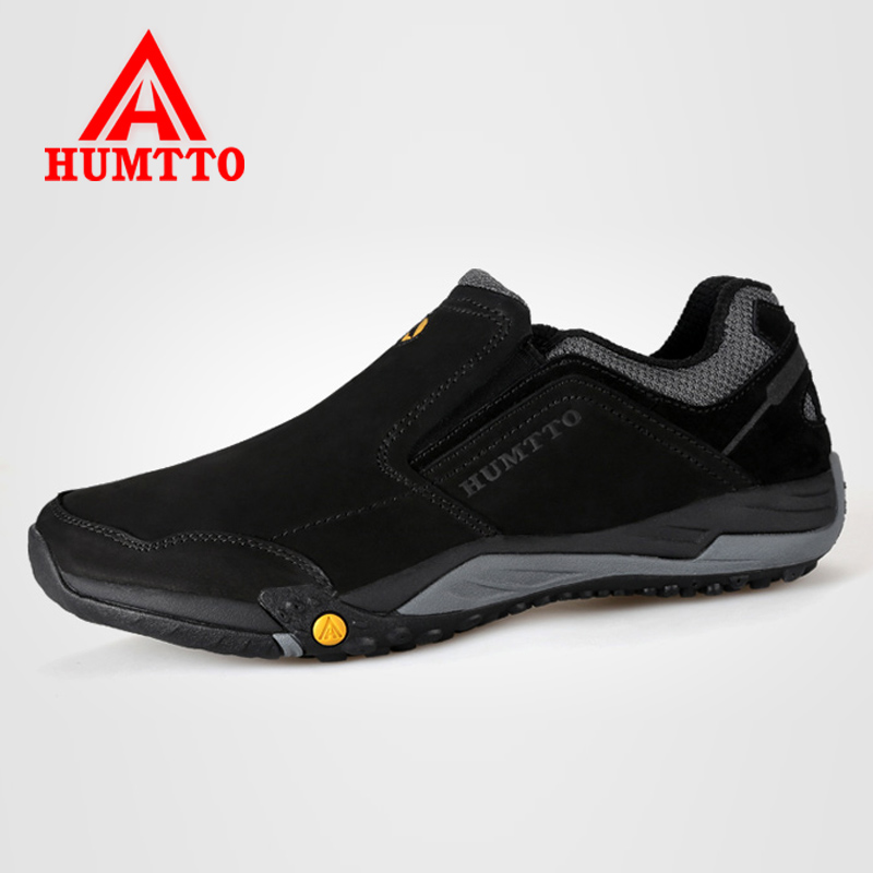 Humtto Genuine Leather Men Hiking Shoes Climbing Shoes Outdoor Slip-on Trekking Sport Shoes For Men Adventure Sapatos Masculino все цены