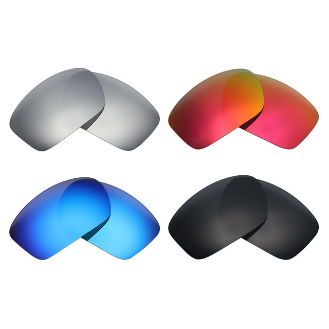 726ae5f537 4 Pairs Mryok POLARIZED Replacement Lenses for Oakley Scalpel Sunglasses  Stealth Black   Ice Blue   Fire Red   Silver Titanium