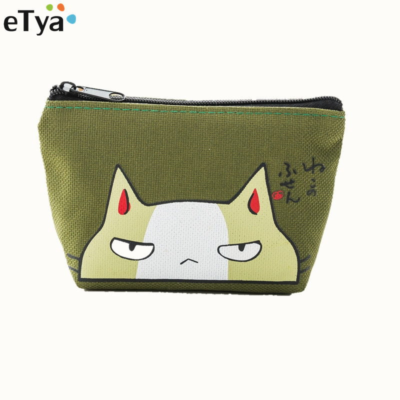 Cartoon Cute Small Coin Bag For Women Female Girl Kids Zipper Oxford Fashion Key Card Coin Holder Purse Wallet Bag Case Pouch new cute cat face printed zipper coin purses for kids students pencil case cartoon wallet bag coin pouch children purse holder