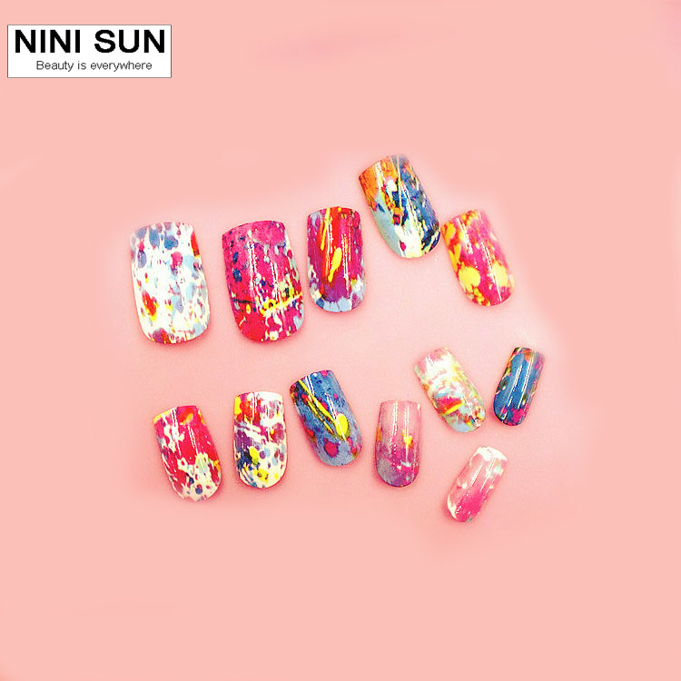 2016 New Fashion Completely Curved Fake Nail Tips Full Cover False ...