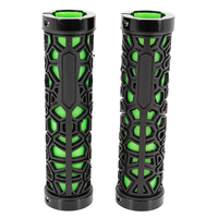 niceEshop(TM) Bicycle Lock on Comfort Rubber Handle Grips Bike Handlebar Grips(Black and Green)|Bicycle Grips|Sports & Entertainment -