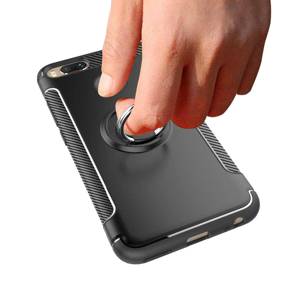 UTOPER чехол для Xiaomi mi A1 6 mi 6 mi x 2 5X Note 3 чехол мягкий силиконовый Жесткий чехол из ПК кольцо бронированный чехол для redmi note 5A Pro Чехол