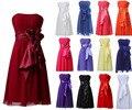 2016 Best Selling Chiffon Comprimento Do Joelho vestido de festa longo robe de soirée curto da dama de honra vestidos de vestidos de novia