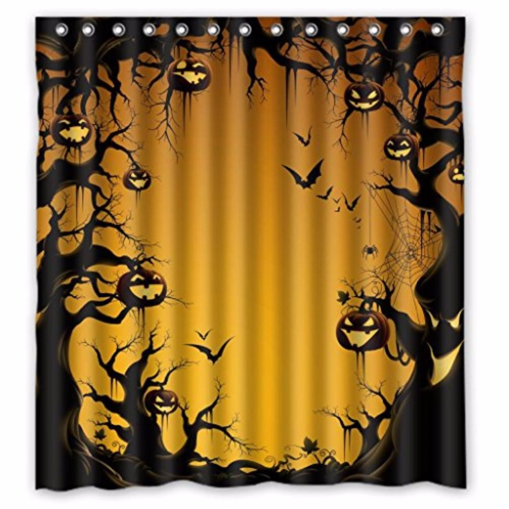 Halloween shower curtain - Halloween Custom Shower Curtain 100 Polyester Waterproof Bathroom Decor Polyester Shower Curtain China