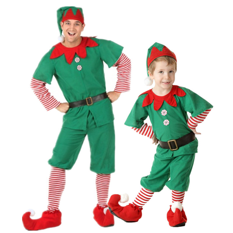 Duendes de la navidad trajes compra lotes baratos de - Disfraces de duendes navidenos para ninos ...