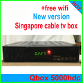 Frete Grátis! NOVO blackbox starhub tv a cabo Singapore Qbox receptor HD set top box caixa de tv qbox 4000hdc 5000HDC QBOX + wifi dongle