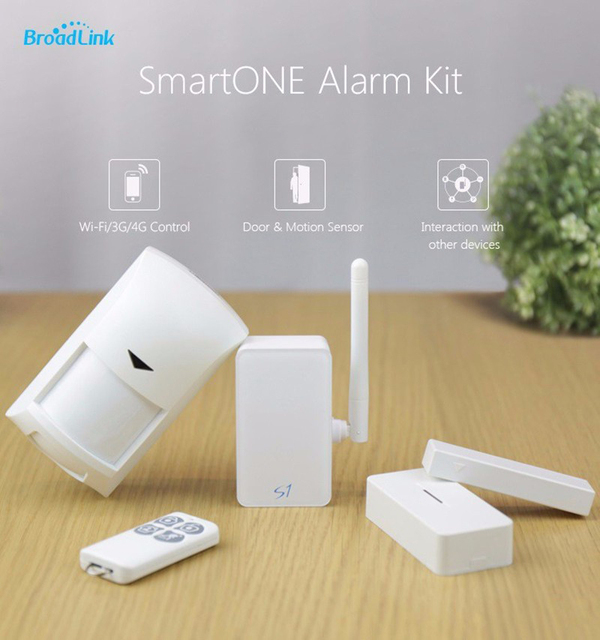 SmartONE S1C Kit Broadlink Controle IOS Android Smart Home Automation Alarme de Segurança Alarme De Sensor S1 inteligente controlador