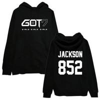 new style hip hop kpop Got7 Jackson Men fall winter fashion hooded sweatshirts high k pop fleece hoodie hat