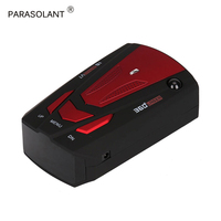 PARASOLANT 360 Degree 16 Band Scanning Auto Detector English/ Russian Voice Alert Warning Speed Radar Car Electronics Detector