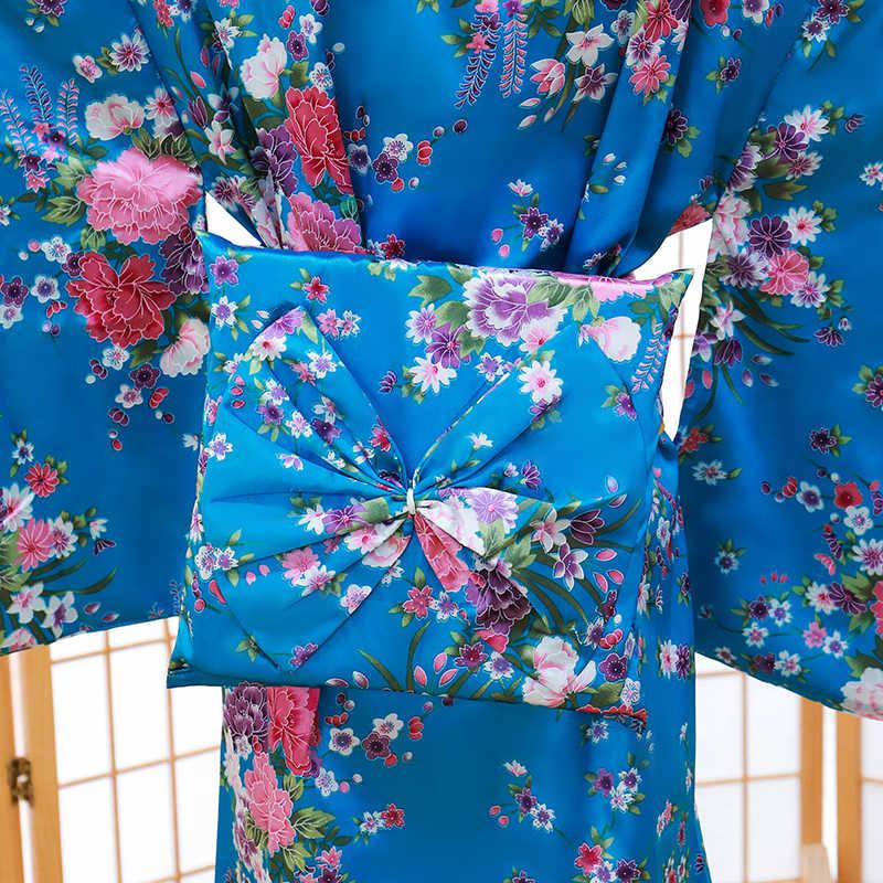 الطفل الجدة تأثيري Floaral اللباس اليابانية طفلة الطباعة كيمونو اللباس الأطفال خمر يوكاتا طفل فتاة أزياء رقص