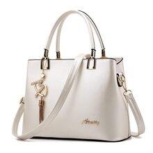 Bolso mujer 2017 moda Hobos mujeres blanco señoras del bolso de cuero de la marca mano Bolsas grandes ocasionales de la bolsa de asas Bolsos de hombro para mujer