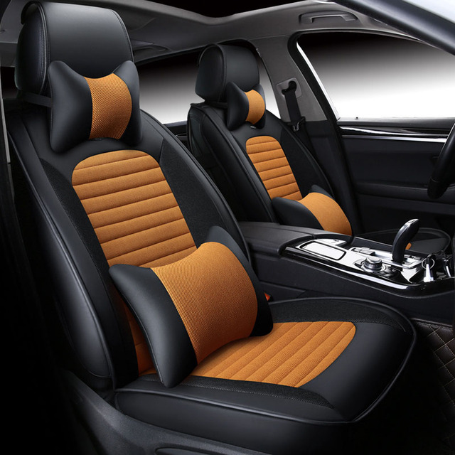 Universal Leather Car Seat Covers Interior Accessories For Toyota Prius Xw20 Xw30 Xw50 V C Mark X X120 X130 Reiz Cushion