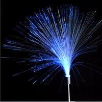 2pcs 참신 색상 변경 태양 광 광섬유 야간 조명 램프 방수 정원 조명 크리스마스 조명 야외 조명
