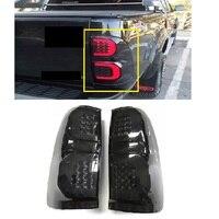 Светодиодный заднего света лампы Хвост FIT фот HILUX VIGO 2012 2014 CAR светодиодный стоп сигналы задние лампы черный освещения автомобиль ACCESSIRIES авто