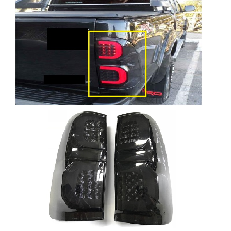 LED REAR LIGHT TAIL LAMP FIT FOT HILUX VIGO 2012-2014 CAR LED BRAKE LIGHTS REAR LAMP BLACK LIGHTING CAR ACCESSIRIES AUTO LAMP