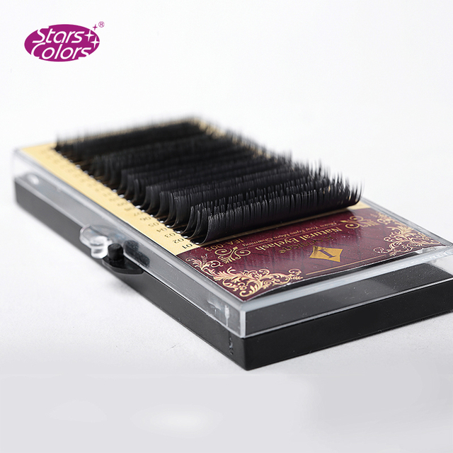 Mix Size 7 to 15 mm 20 lines High quality mink synthetic eyelash single natural eyelashes fake false eye lash Cilia make up