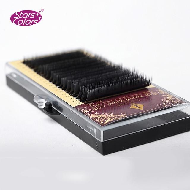 Tamaño de la mezcla 7 a 15mm 20 líneas de alta calidad de visón sintético pestañas individuales pestañas naturales falso pestañas cilios maquillaje