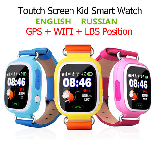 GPS Q90 Touch Screen WIFI Position Smart Watch Children SOS Call Location Finder Tracker Kid Safe Anti Lost Monitor