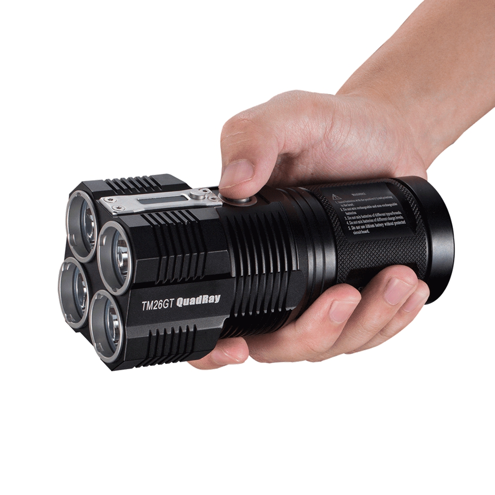 NITECORE TM26GT 4 *CREE XP-L HI V3 LEDs 3500LM 704m Beam Distance outdoor torch for camping searching Not Battery nitecore mh25gt 1000lm cree xp l hi v3 led rechargeable flashlight torch