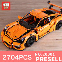 New LEPIN 20001 20001B 2704Pcs Technic Series 911 GT3 RS Race Car Model Building Kits Blocks
