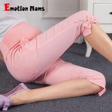 Emotion Moms Материнство летние брюки материнство трикотажные хлопковые брюки беременность брюки для беременных женщин Беременность Одежда