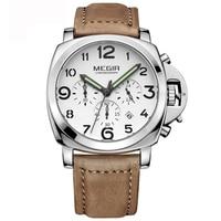 Megir Big Face Watch Men Luxury Brand Men S Wrist Watch Relogios Masculino Quartz Military Sport
