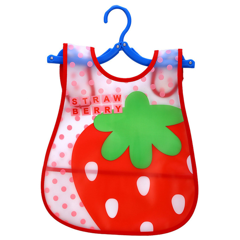 Adjustable Baby Bibs EVA Plastic Waterproof Lunch Feeding Bibs Baby Cartoon Feeding Cloth Children Baby Apron Babador de bebe (41)