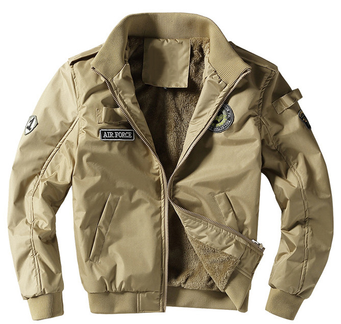 2018 Autumn Air Force 1 Flight Jackets Men Casual Cotton jackets High quality Army Green military jackets mens Bomber coat 4XL