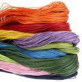 Бесплатная доставка 1.0 мм Воск шнур 80 м/Roll многоцветные для изготовления Ювелирных Изделий Нить Плетеный Браслет строка