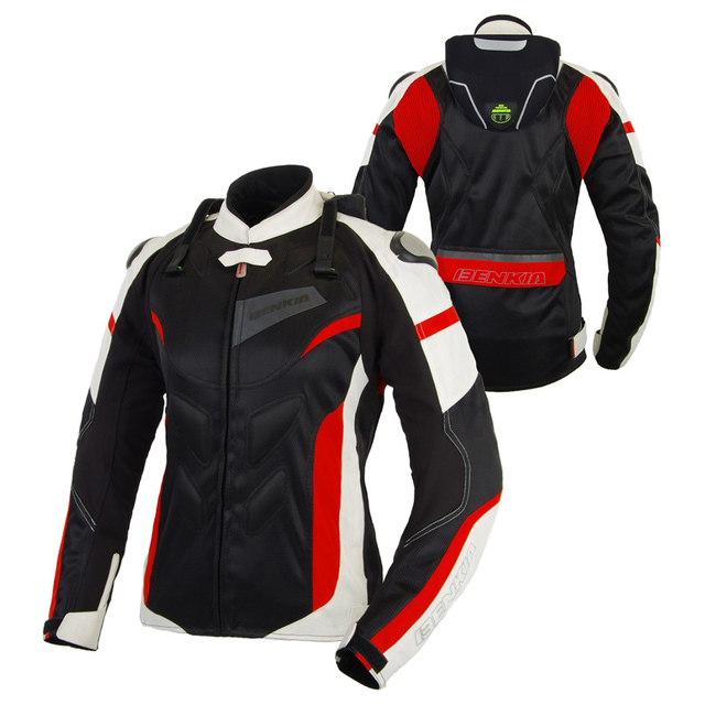 BENKIA Motorcycle Jackets Women Motocross Jacket Protective Gear Racing Breathable Windproof Moto Jacket For Spring Summer 1