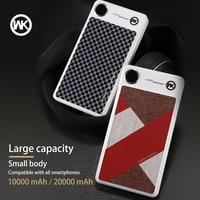 WK Portable Charger Power Bank 20000mAh Powerbank 10000mAh Battery Bank for Power Bank Xiaomi mi A2 iPhone X XS Bateria Portatil