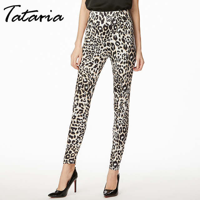 909f380740de06 Tataria Womens leopard High Waist leggings Sexy Pants 2019 Women's  Multicolor Push Up Leggings For Women