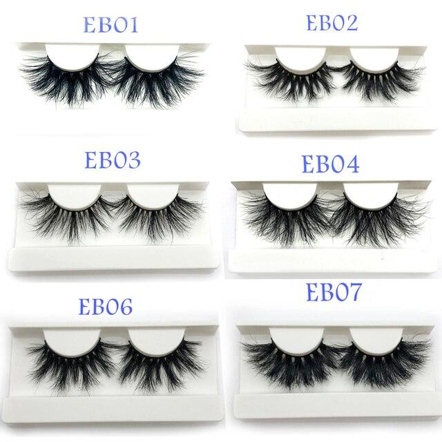 53d2b921706 wholesale 25mm 3D mink eyelash natural long 30pcs/lot hot selling 100%  handmade mink fur lashes packaging
